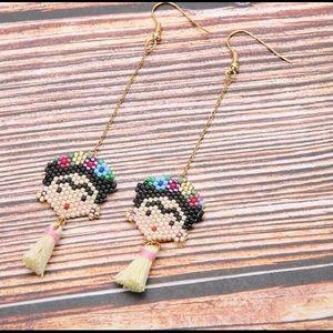 Frida kahlo Mexican beaded earrings